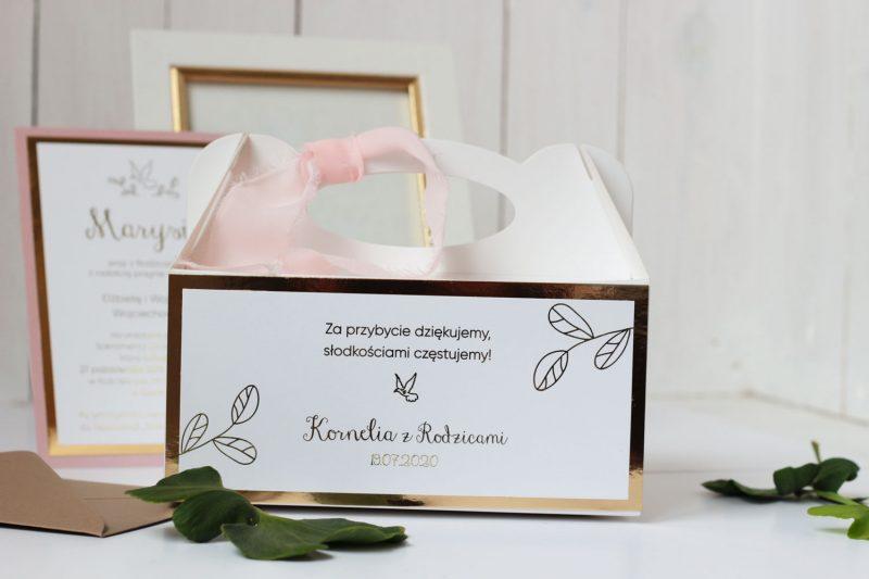 Zaproszenia ślubne ze złoceniem ELE 473
