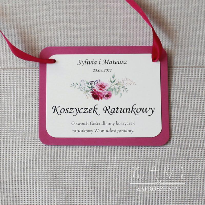 KWI 826 Oryginalne zaproszenie ślubne