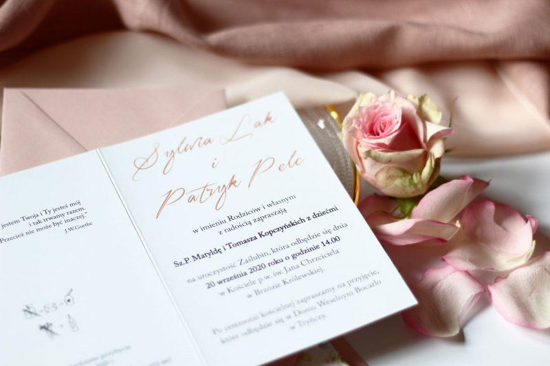 Zaproszenie ślubne KWI 878