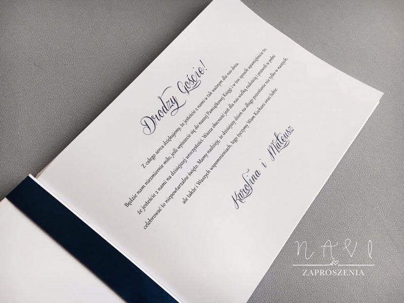 Granat i księga wpisów gości weselnych KG713