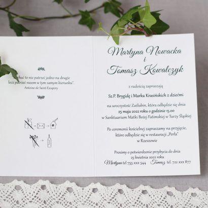 Minimalistyczne zaproszenie KWI 883
