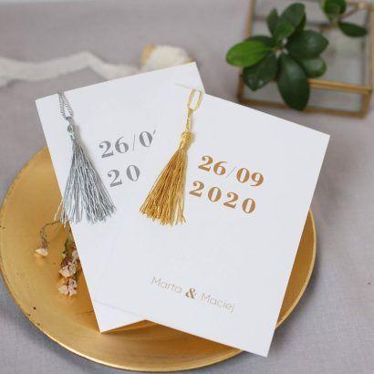 Zaproszenie eleganckie z chwostem ELE 485