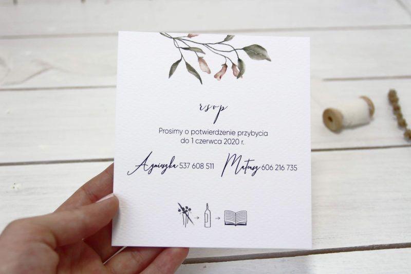 Zaproszenie romantyczne kwiatowe ELE 480