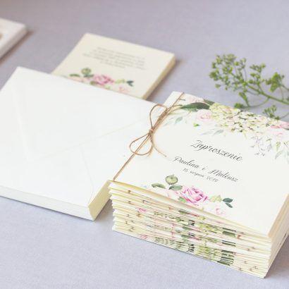 Zaproszenie ślubne kwiatowe KWI 870
