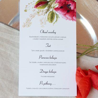 Zaproszenia Ślubne maki ELE 460
