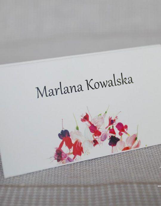 Winietka prostokątna z kwiatami WZG 2118