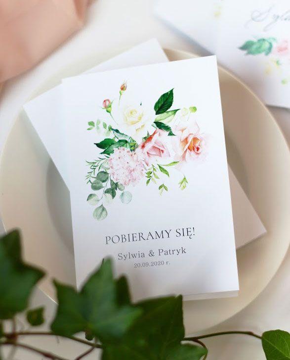Zaproszenia ślubne KWI 875